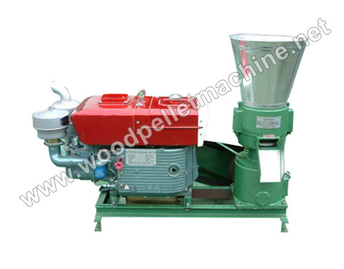 diesel engine wood pellet press