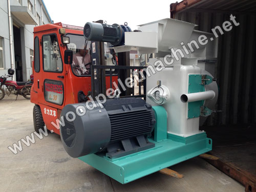ring die wood pellet machine loading